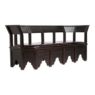 Moroccan Brown Cedarwood Sofa
