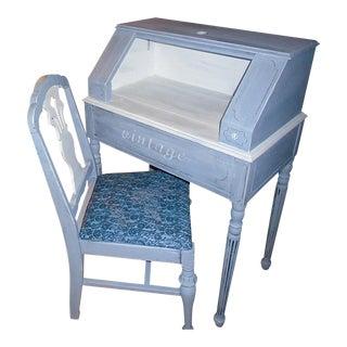 Shabby Chic Vintage Desk & Chair