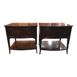 Wooden Baker Nightstands - Pair