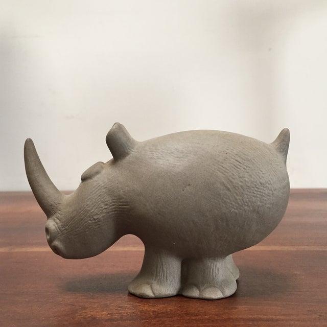 Robert Maxwell Attrib. Ceramic Rhino - Image 6 of 9