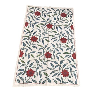 Floral Suzani Table Runner 16th Century Patterns Vintage Design Fabric