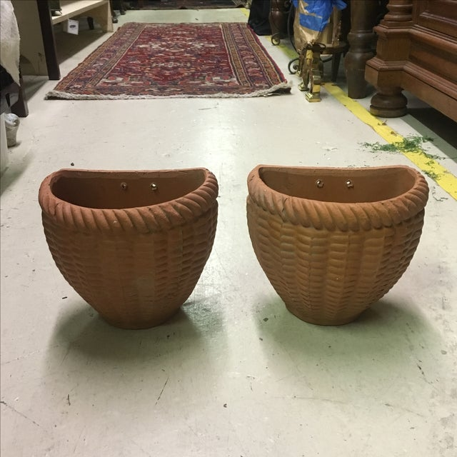 Italian Terra Cotta Wall Pocket Planters - A Pair - Image 2 of 6
