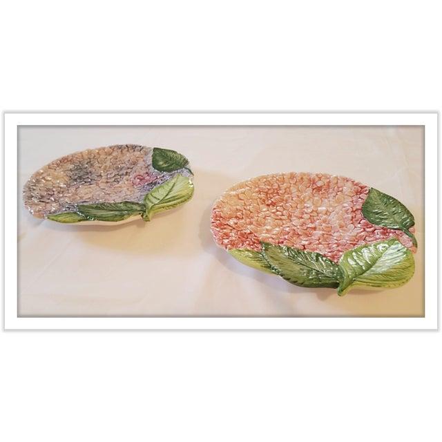 Isabella De Borchgrove Italian Flower Plates - A Pair - Image 6 of 10