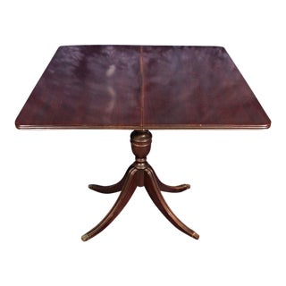 Sheraton Style Mahogany Flip Top Card Game Dining Table Console