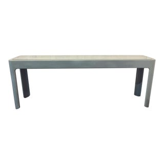 Mid-Century Gray Mirror Top Console