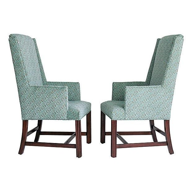 White Furniture Wingback Chairs - A Pair - Image 3 of 8