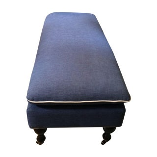 Navy Blue Upholstered Bench