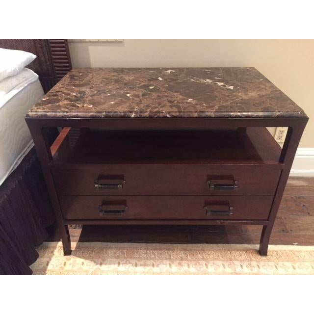 Image of Baker Marble Top Chests - A Pair