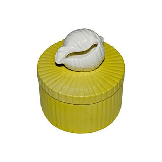 Fitz and Floyd Yellow Shell Trinket Box