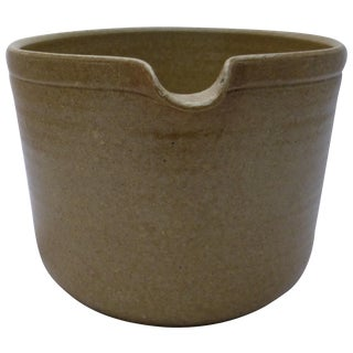 Organic Mid-Century Pottery Porringer
