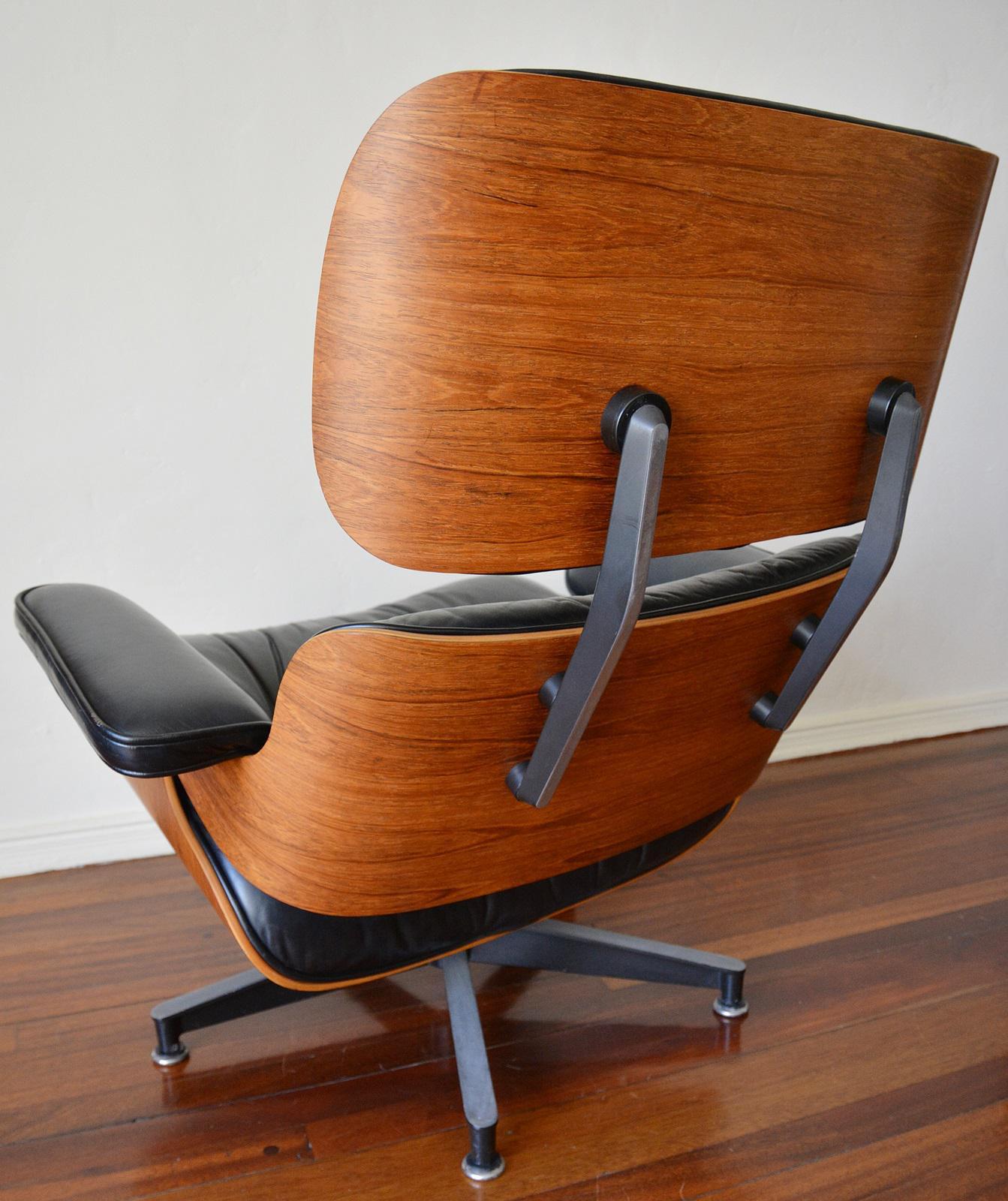 vintage herman miller rosewood eames lounge chair u0026 ottoman image 5 of 11