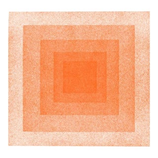 Jessica Poundstone Red & Orange Squares in Squares Print