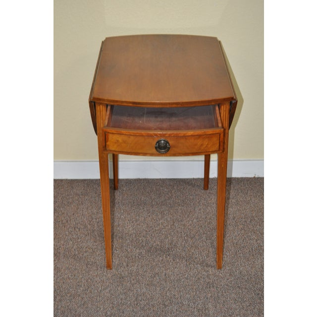 Image of American Drop Leaf Side Table With Drawer C.1915