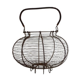 Vintage French Wire Salad Basket