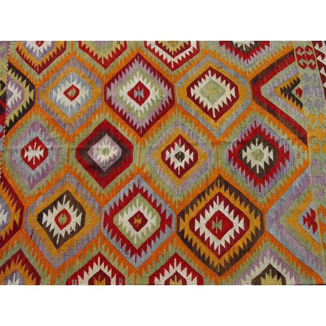 "Vintage Handwoven Turkish Kilim Rug - 4'10 x 8'4"" - Image 8 of 11"