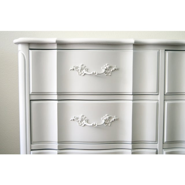 French Provincial White Dresser - Image 2 of 3