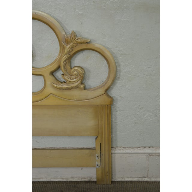 Vintage Queen Size Painted Rococo Style Headboard - Image 9 of 10