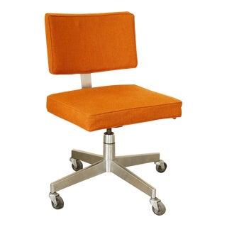 Mid-Century Modern Upholstered Rolling Desk Chair