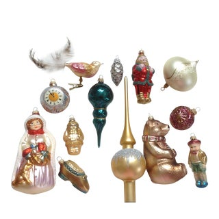 German Christmas Ornament Box - Set of 13