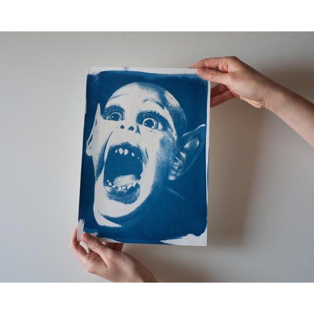 Image of Cyanotype Print- Bat Boy