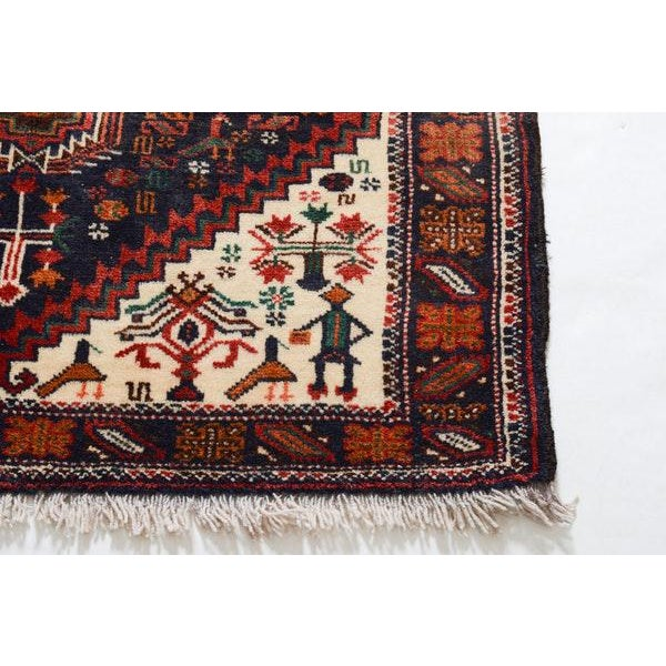 Hand Knotted Persian Baluch Rug - 3′3″ × 6′10″ - Image 7 of 9