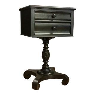 Black Pedestal Nightstand