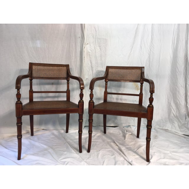 Kindel Regency Style Armchairs - A Pair - Image 2 of 7