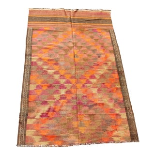 Antique Kilim Area Rug - 4′6″ × 7′4″