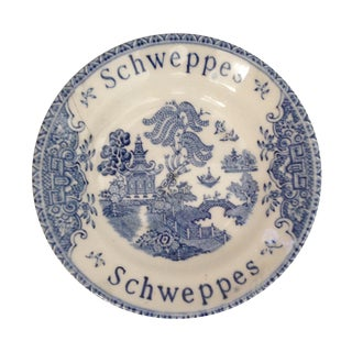 Vintage Schweppes Blue Willow Tip Dish
