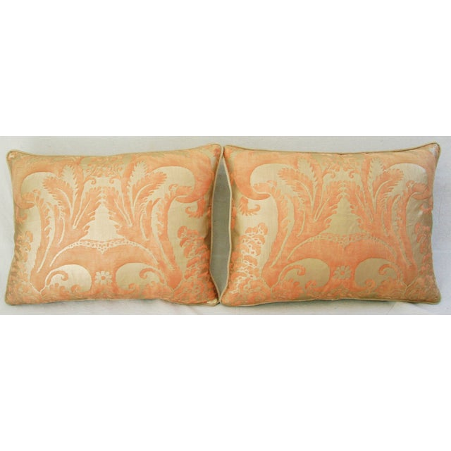 Italian Fortuny Glicine Gold Pillows - Pair - Image 3 of 11