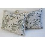 Image of Safari Zebra Linen/Velvet Pillows - Pair