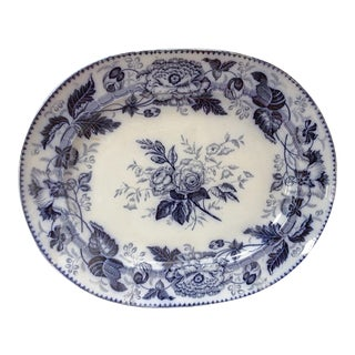 Extra Large Antique Blue & White Platter
