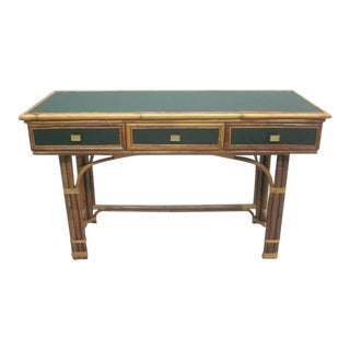 French Modern Neoclassical Desk or Console and Chair
