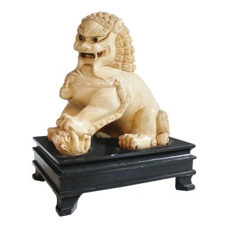 Mid-Century Chinese Guardian Foo Lion Sculpture