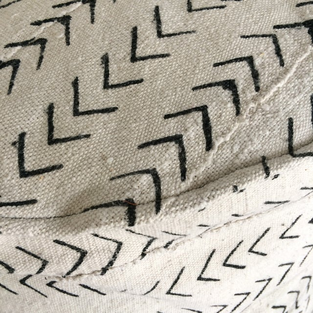 Black and White Mud-Cloth Floor Pillow - Image 7 of 7