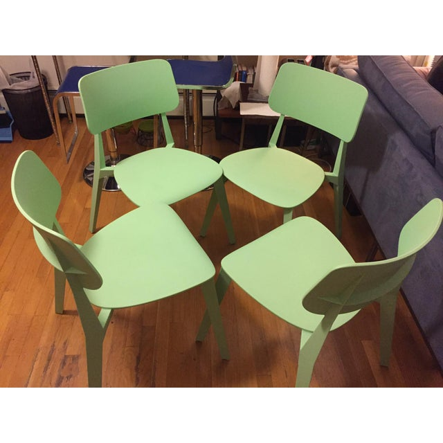 Set of Four Nuans Stellar Dining Chairs in Mint - Image 3 of 3