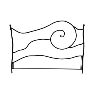 Studio Crafted Abstract Iron King Size Headboard