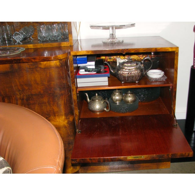 French Art Deco 2-Tiered Paldao Burlwood Sideboard - Image 11 of 11