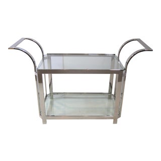 Chrome & Glass Bar Cart