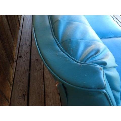 Mid-Century Modern Turquoise Sofa - Image 4 of 11