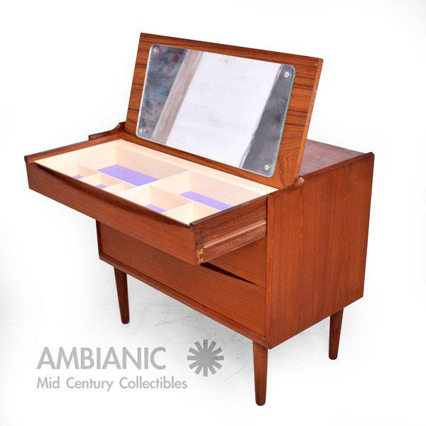 Image of Arne Vodder Secretary Vanity Desk Dresser for Sibast