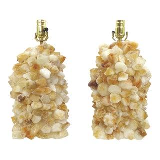 Quartz Rock Crystal Lamps - A Pair