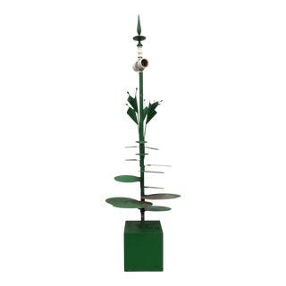 Vintage Metal Lily Pad Lamp
