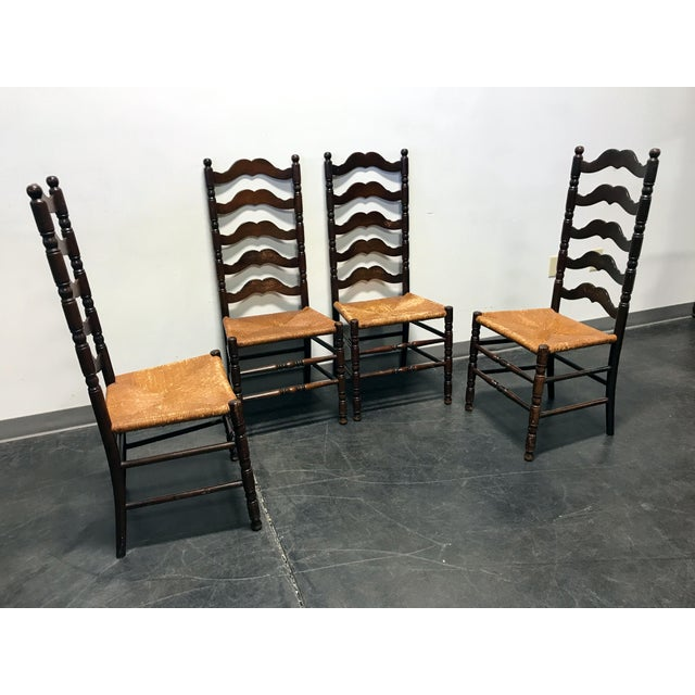 Tell City Vintage Ladder Back Dining Chairs - Set of 4 - Image 3 of 11