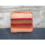 Image of Pink & Brown Moroccan Kilim Floor Pillow