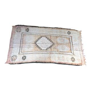 Vintage Moroccan Blush Pink Boho Boujad Runner Rug 4'9 X 10'