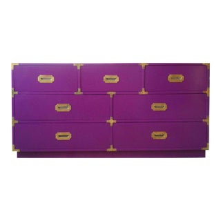 Vintage Campaign Purple Chest