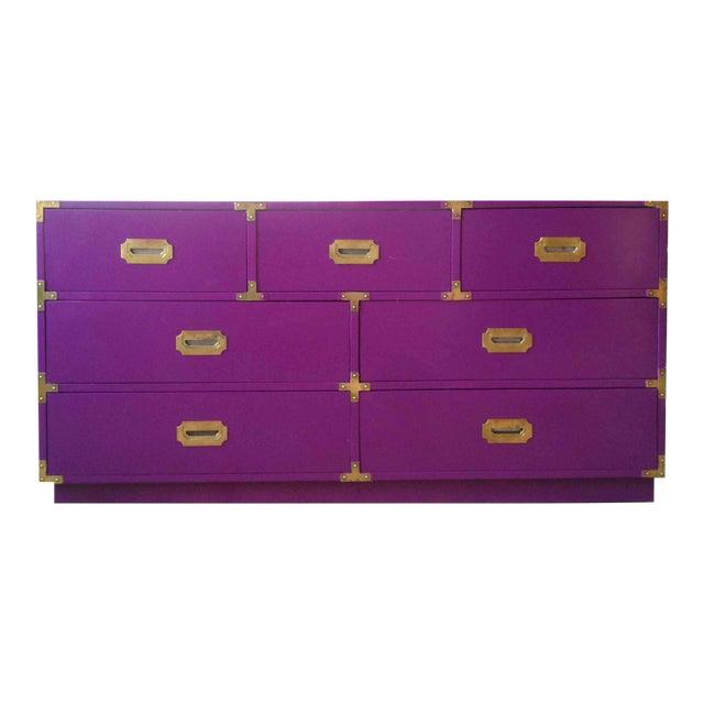 Vintage Campaign Purple Chest - Image 1 of 10