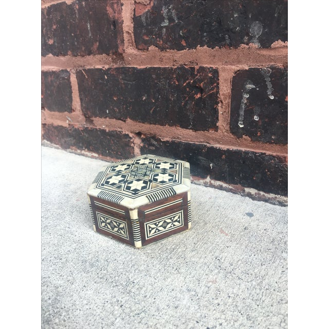 Image of Antique Chinoiserie Pearl Inlay Decorative Box