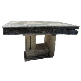 Antique Stone Book Garden Table